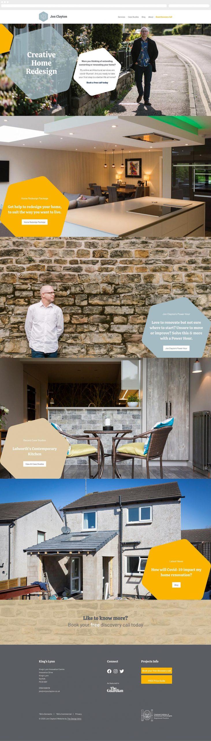 Personal brand identity for residential architect Jon Clayton | The Design Attic